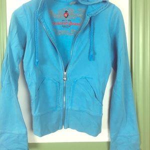 Light Blue Twisted Heart Jacket